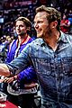 chris pratt patrick schwarzenegger clippers game