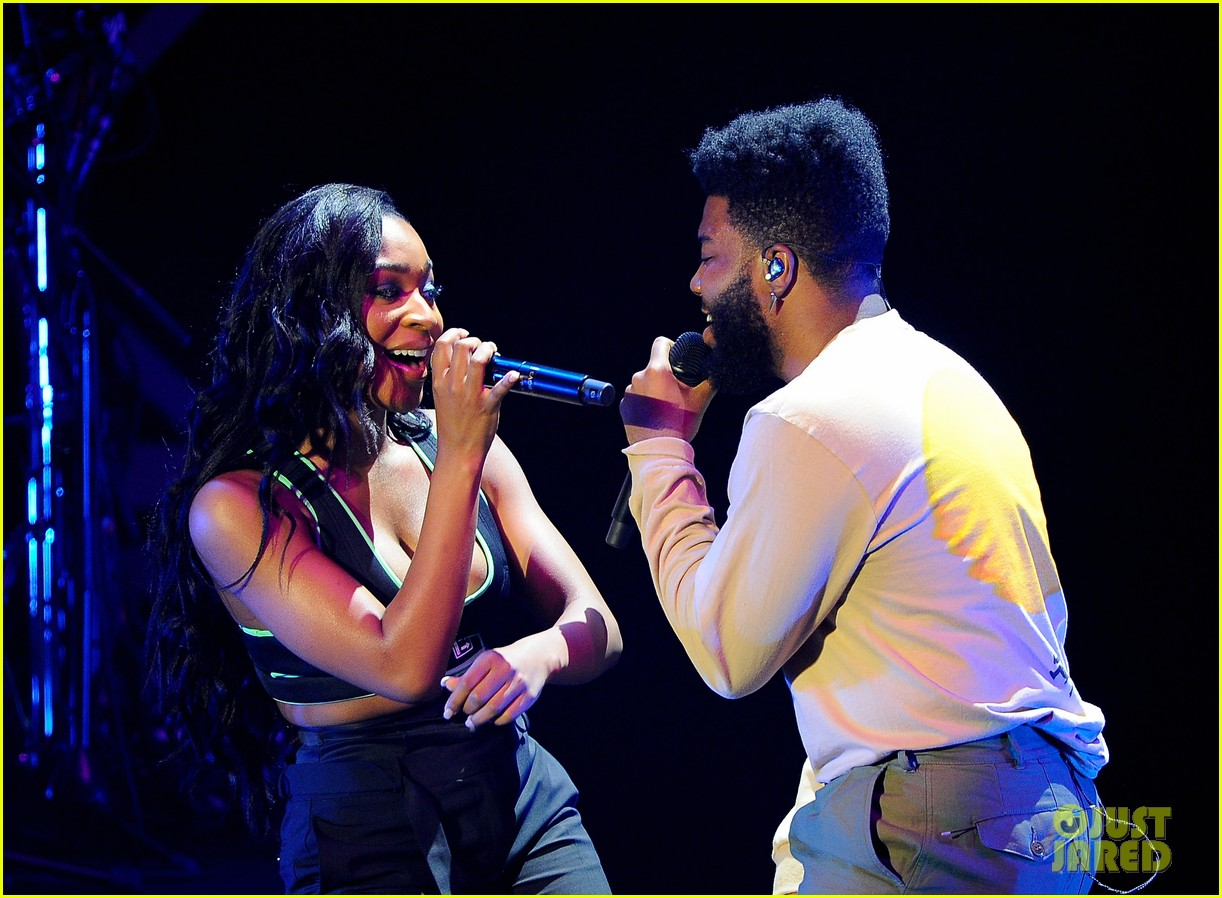 Khalid klings to normani at 949 jingle ball 424191481