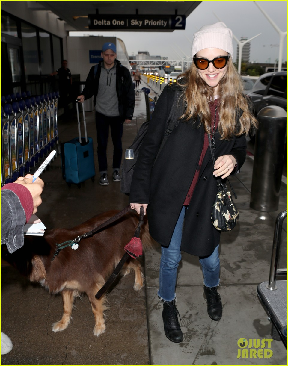 amanda seyfried travels from la to nyc with dog finn 01