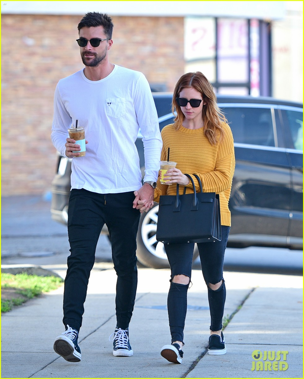 brittany snow boyfriend tyler stanaland step out for coffee 014201737