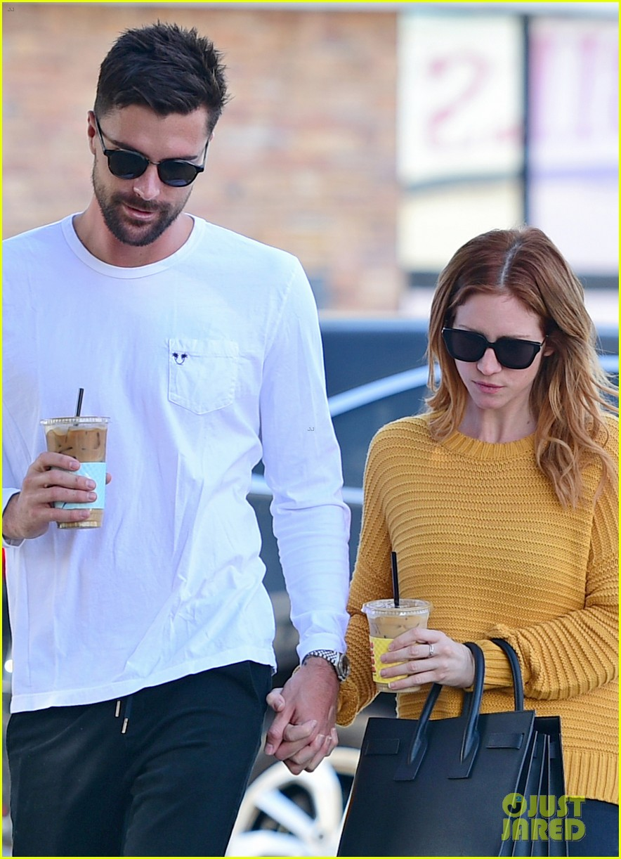 brittany snow boyfriend tyler stanaland step out for coffee 024201738