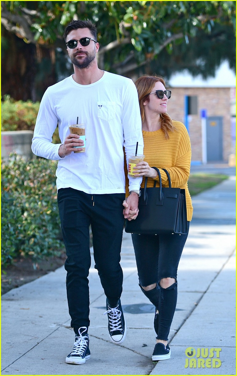 brittany snow boyfriend tyler stanaland step out for coffee 034201739