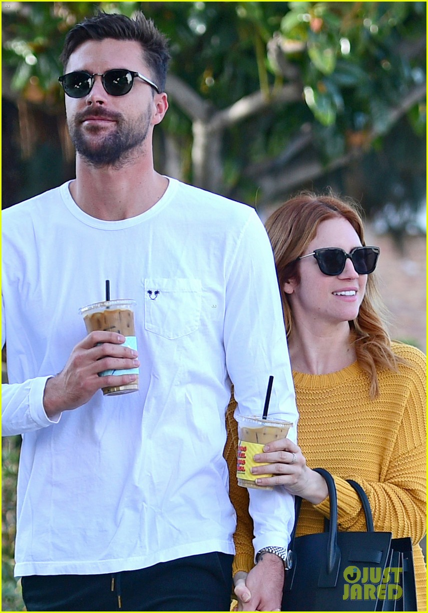 brittany snow boyfriend tyler stanaland step out for coffee 044201740