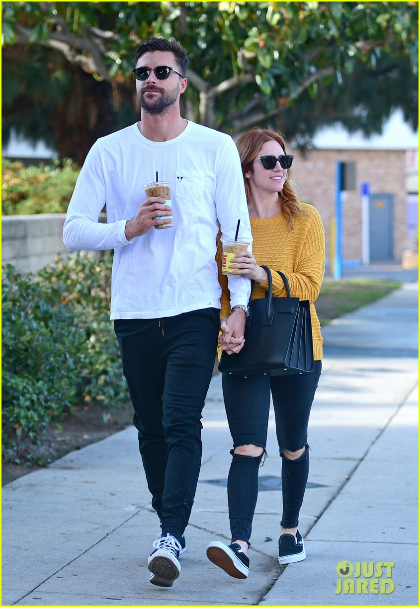 brittany snow boyfriend tyler stanaland step out for coffee 054201741