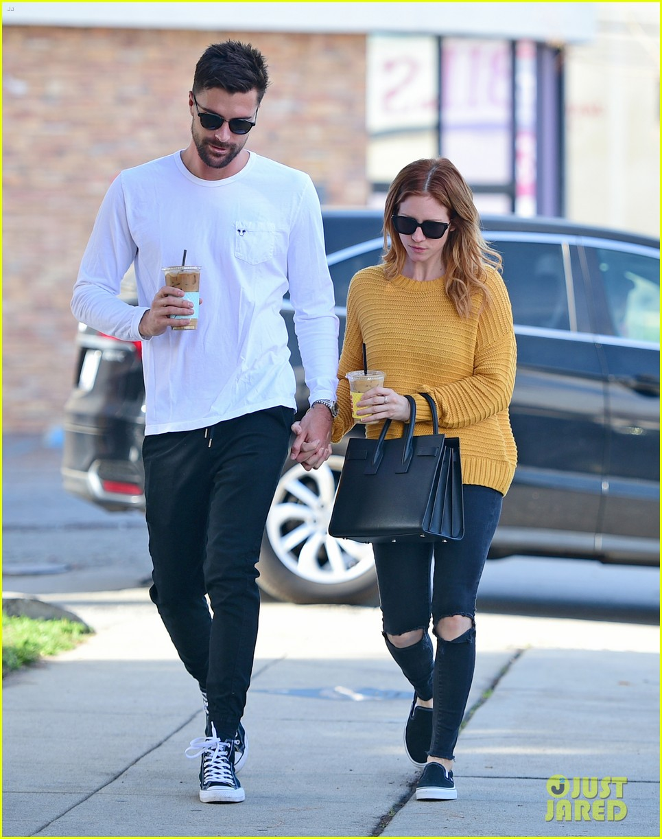 brittany snow boyfriend tyler stanaland step out for coffee 064201742