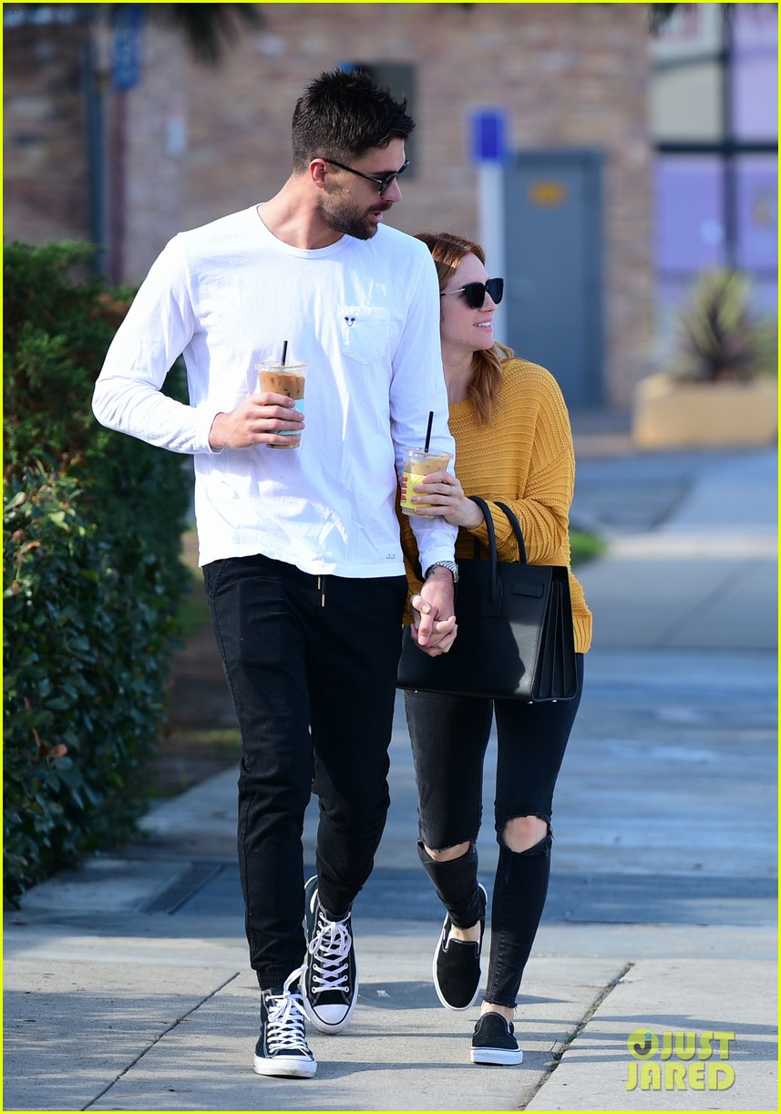 brittany snow boyfriend tyler stanaland step out for coffee 084201744