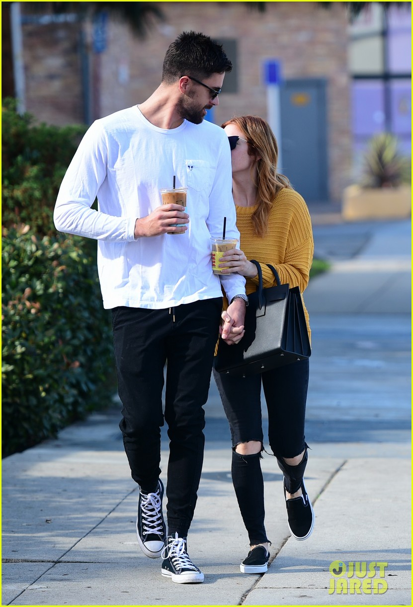 brittany snow boyfriend tyler stanaland step out for coffee 094201745