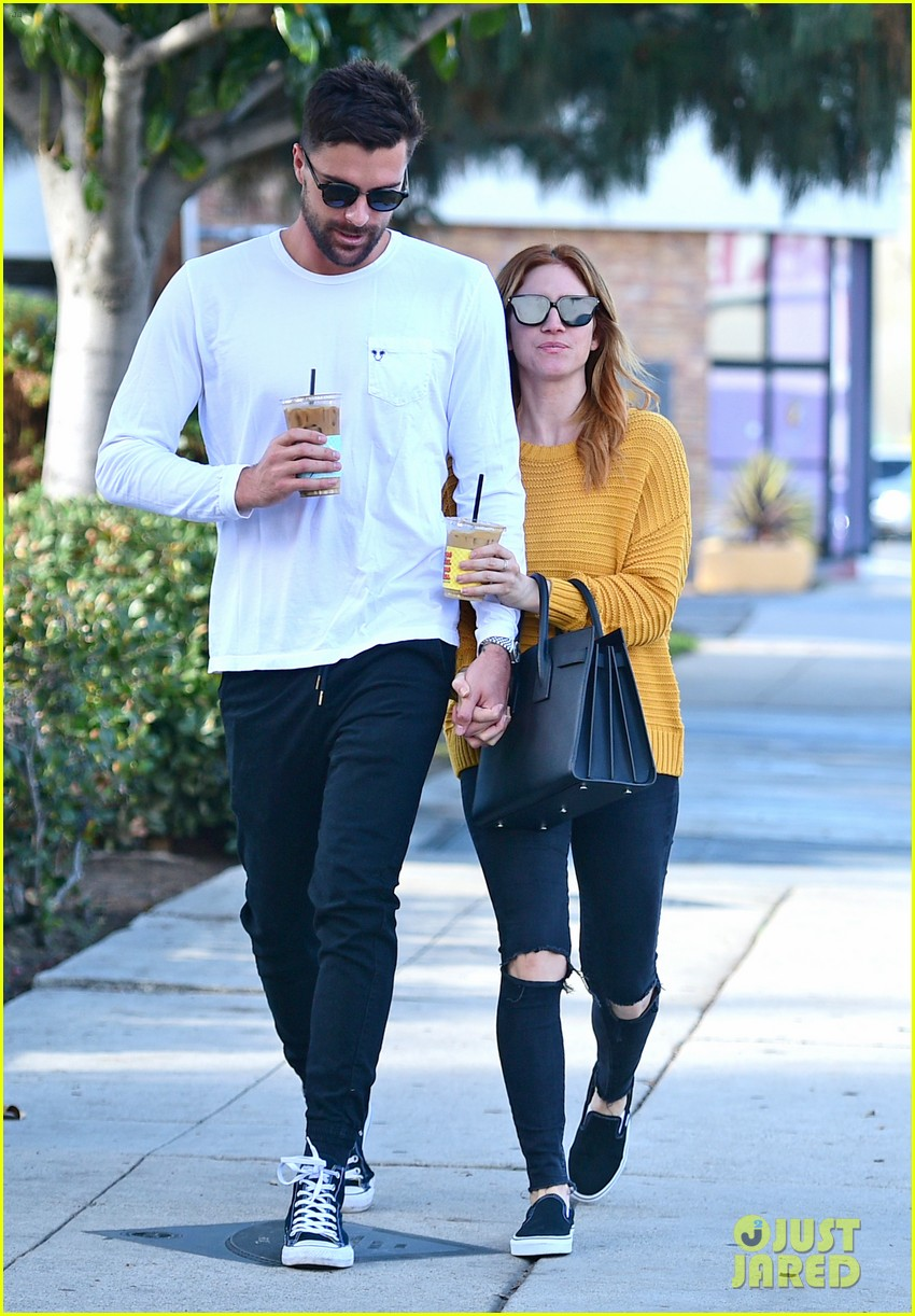 brittany snow boyfriend tyler stanaland step out for coffee 104201746