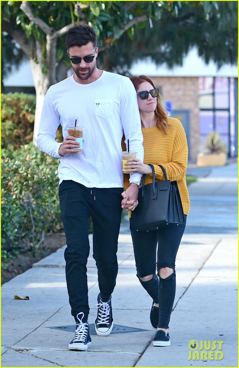 brittany snow boyfriend tyler stanaland step out for coffee 114201747