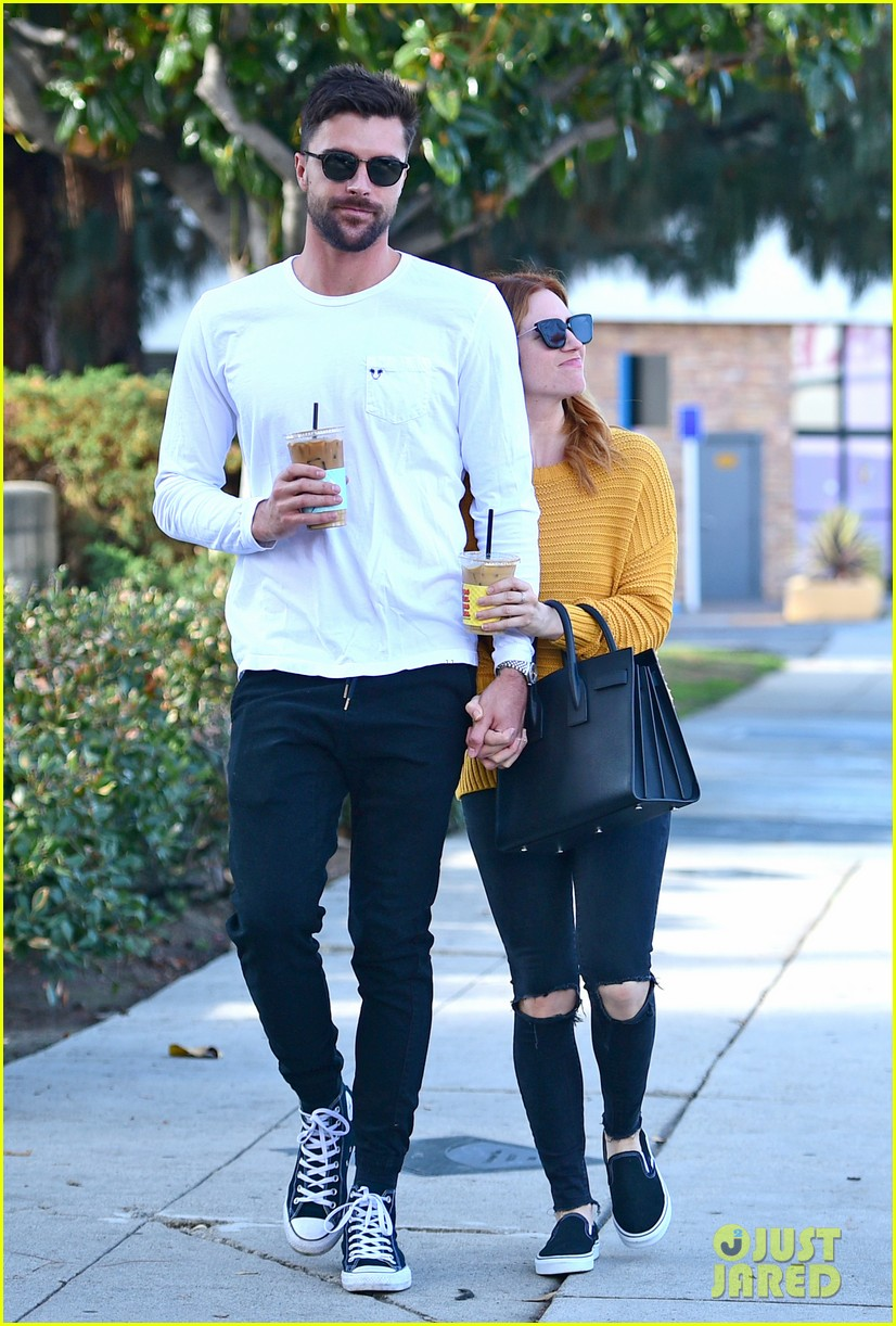 brittany snow boyfriend tyler stanaland step out for coffee 124201748