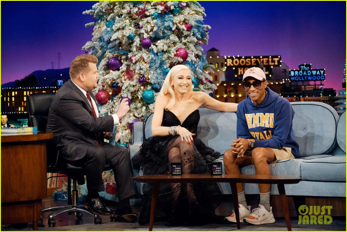 gwen stefani gets emotional talking about pharrell williams on late late show 024200544