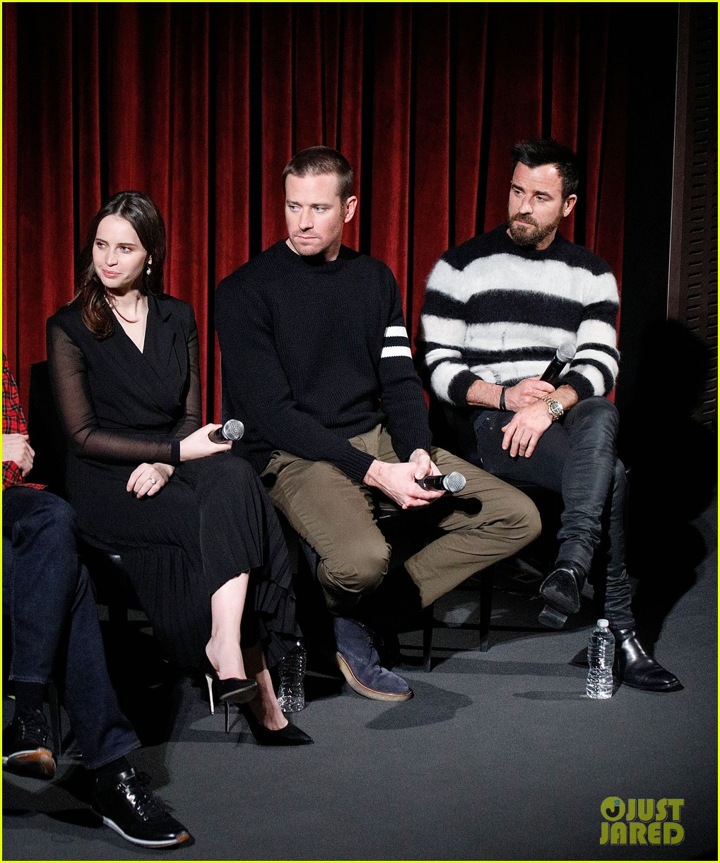 justin thereoux felicity jones armie hammer on the basis of sex screening academy 02
