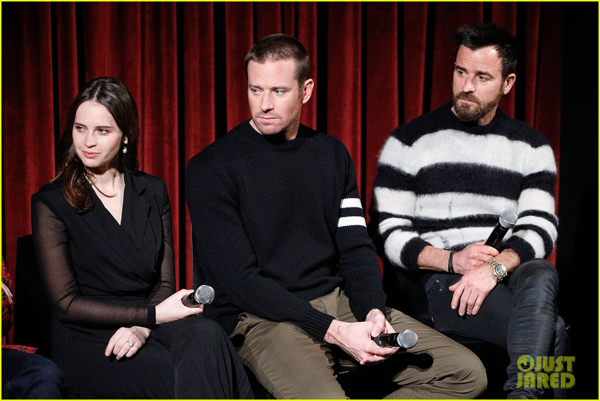 justin thereoux felicity jones armie hammer on the basis of sex screening academy 15