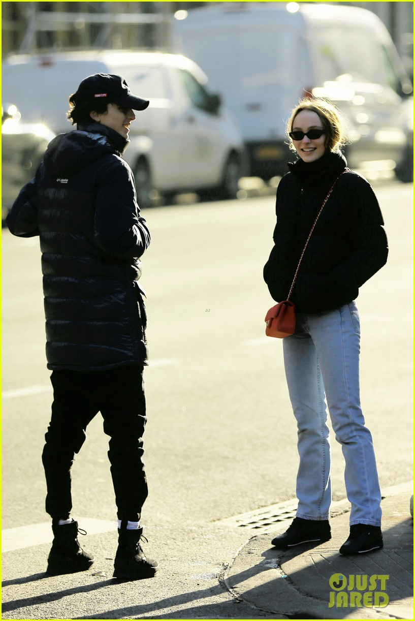 timothee chalamet lily rose depp step out for lunch date 01