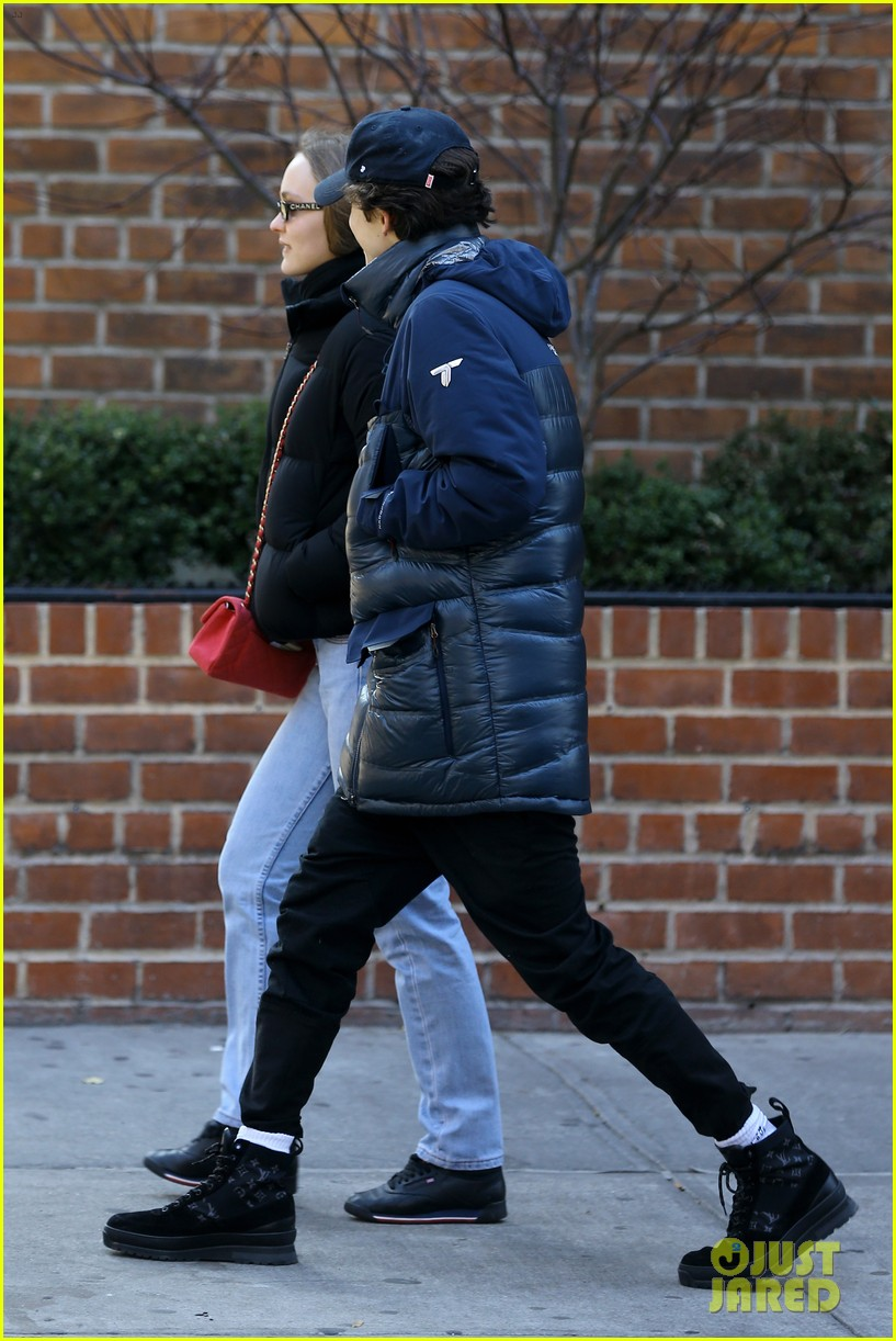 timothee chalamet lily rose depp step out for lunch date 03