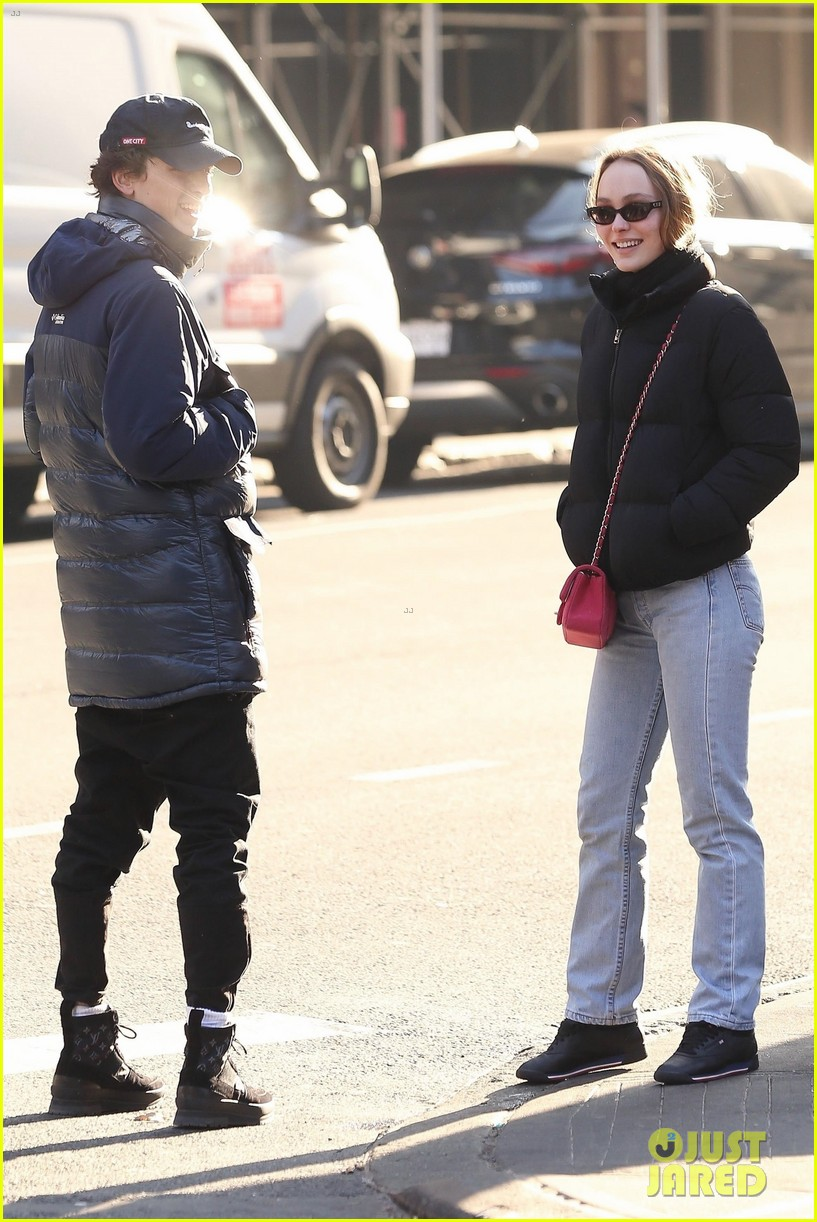 timothee chalamet lily rose depp step out for lunch date 04