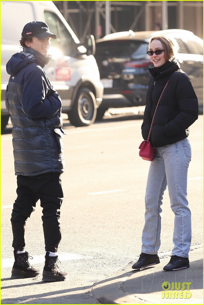timothee chalamet lily rose depp step out for lunch date 07