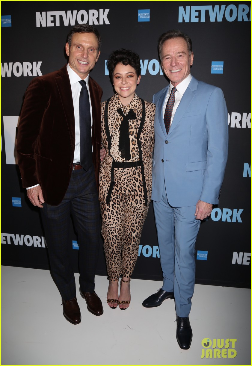 tony goldwyn tatiana maslany bryan cranston step out for opening night of network 04