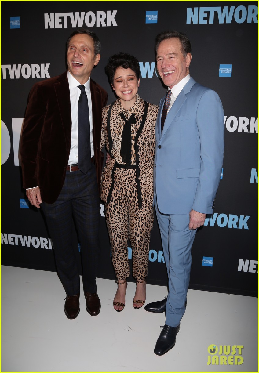 tony goldwyn tatiana maslany bryan cranston step out for opening night of network 09