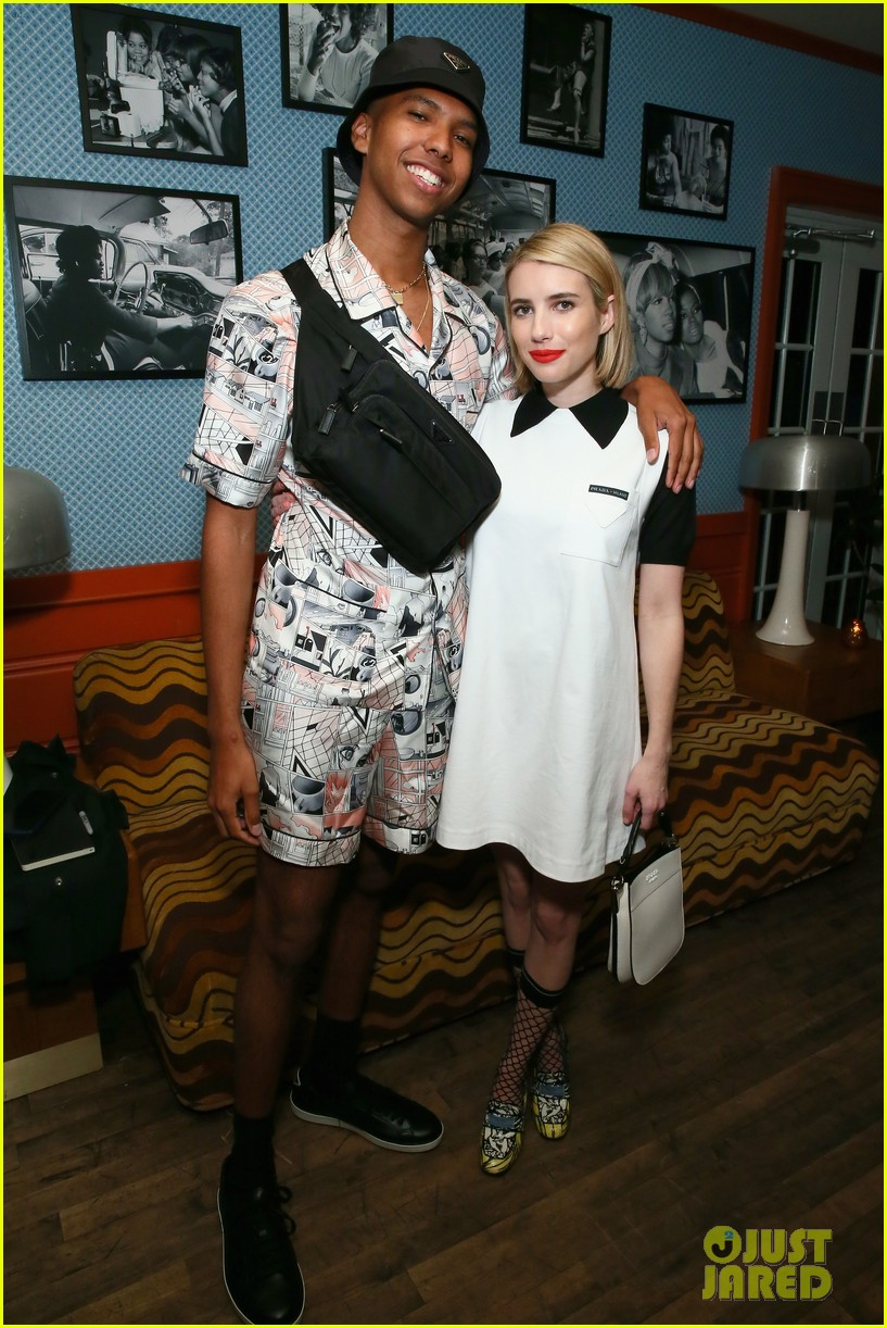 kanye west emma roberts hit the town during art basel in miami 08