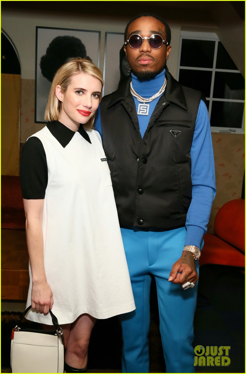 kanye west emma roberts hit the town during art basel in miami 12