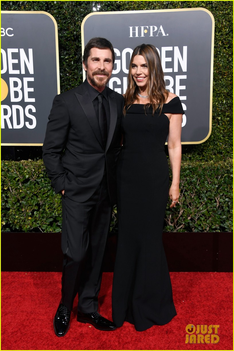 christian bale is supported by wife sibi golden globes 014207102