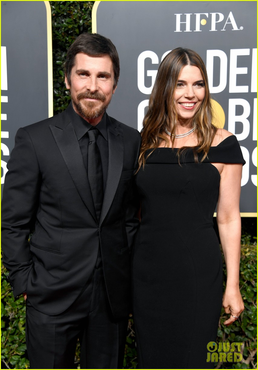 christian bale is supported by wife sibi golden globes 034207104