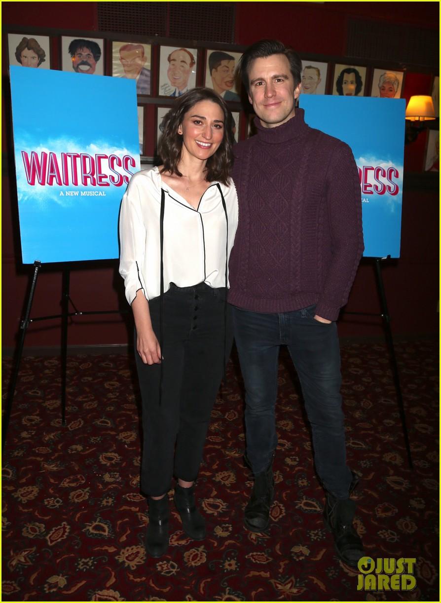 Sara Bareilles & Gavin Creel Team Up at Sardis for 'Waitress' Photo