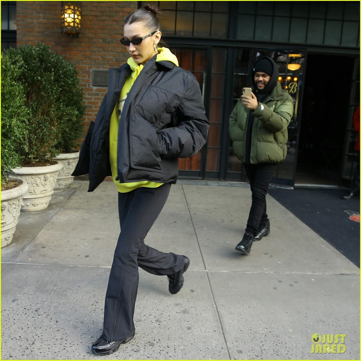 bella hadid the weeknd filming new york city 05