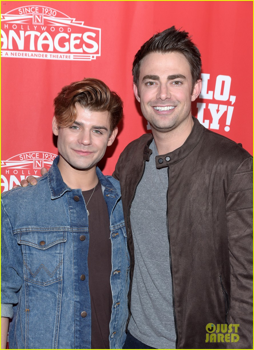 jonathan bennett garrett clayton buddy up at hello dolly los angeles premiere 044220892