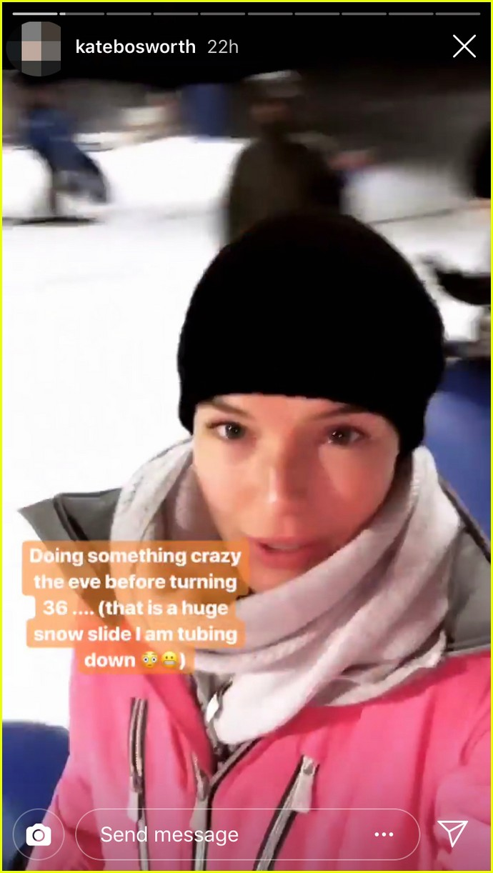 kate bosworth and michael polish go snow tubing for her 36th birthday 02