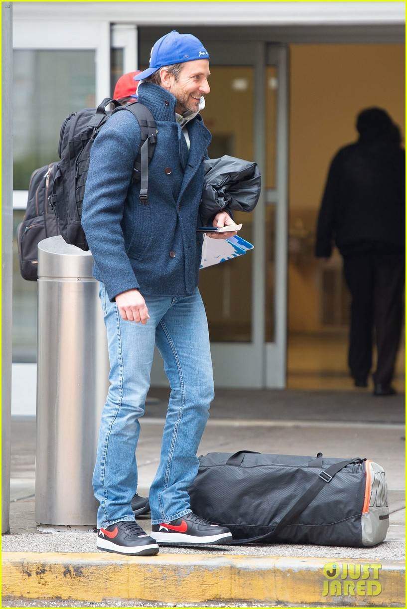 Bradley Cooper Looks Sporty While Arriving At Airport In
