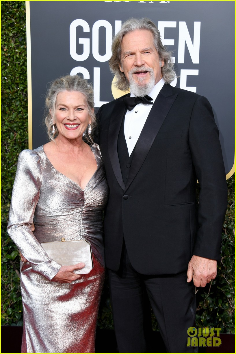 Jeff Bridges Is Supported By Wife Susan At Golden Globes
