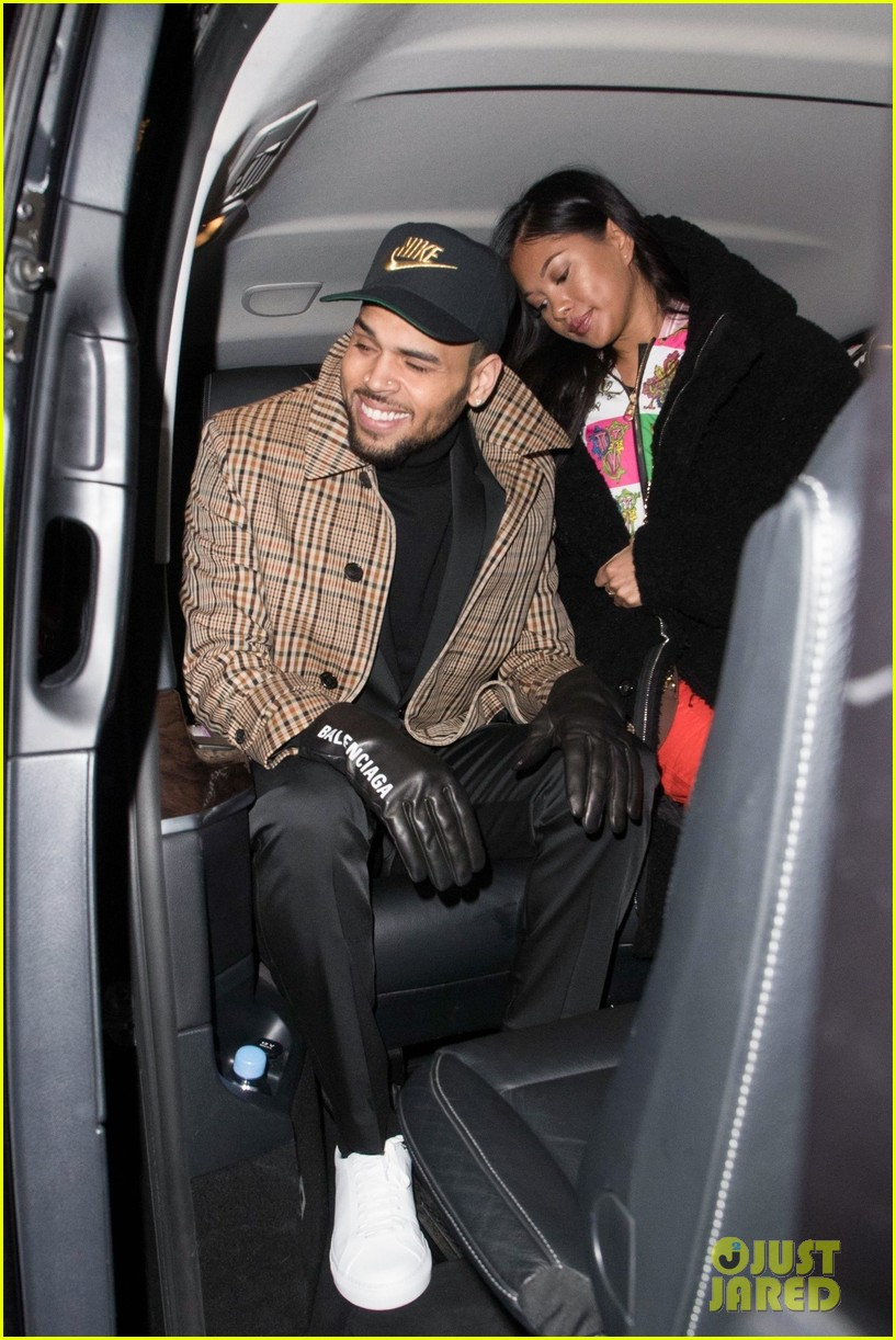 chris brown emerges in paris with ammika harris after arrest 034215489