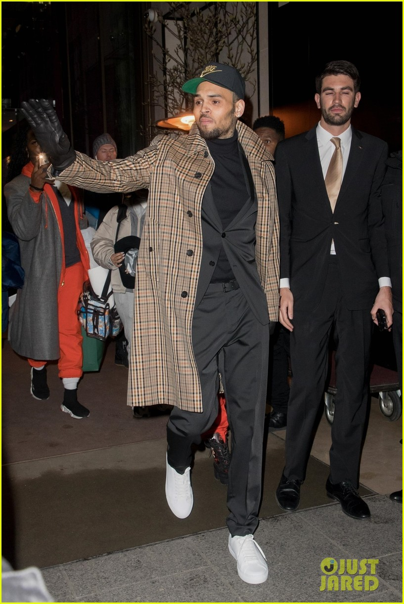 chris brown emerges in paris with ammika harris after arrest 054215491