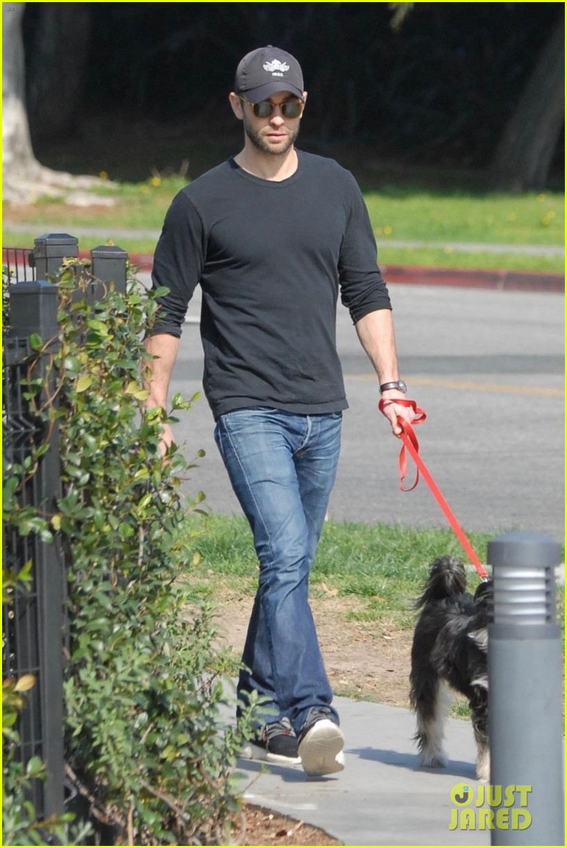 chace crawford takes his dog shiner for a walk 01