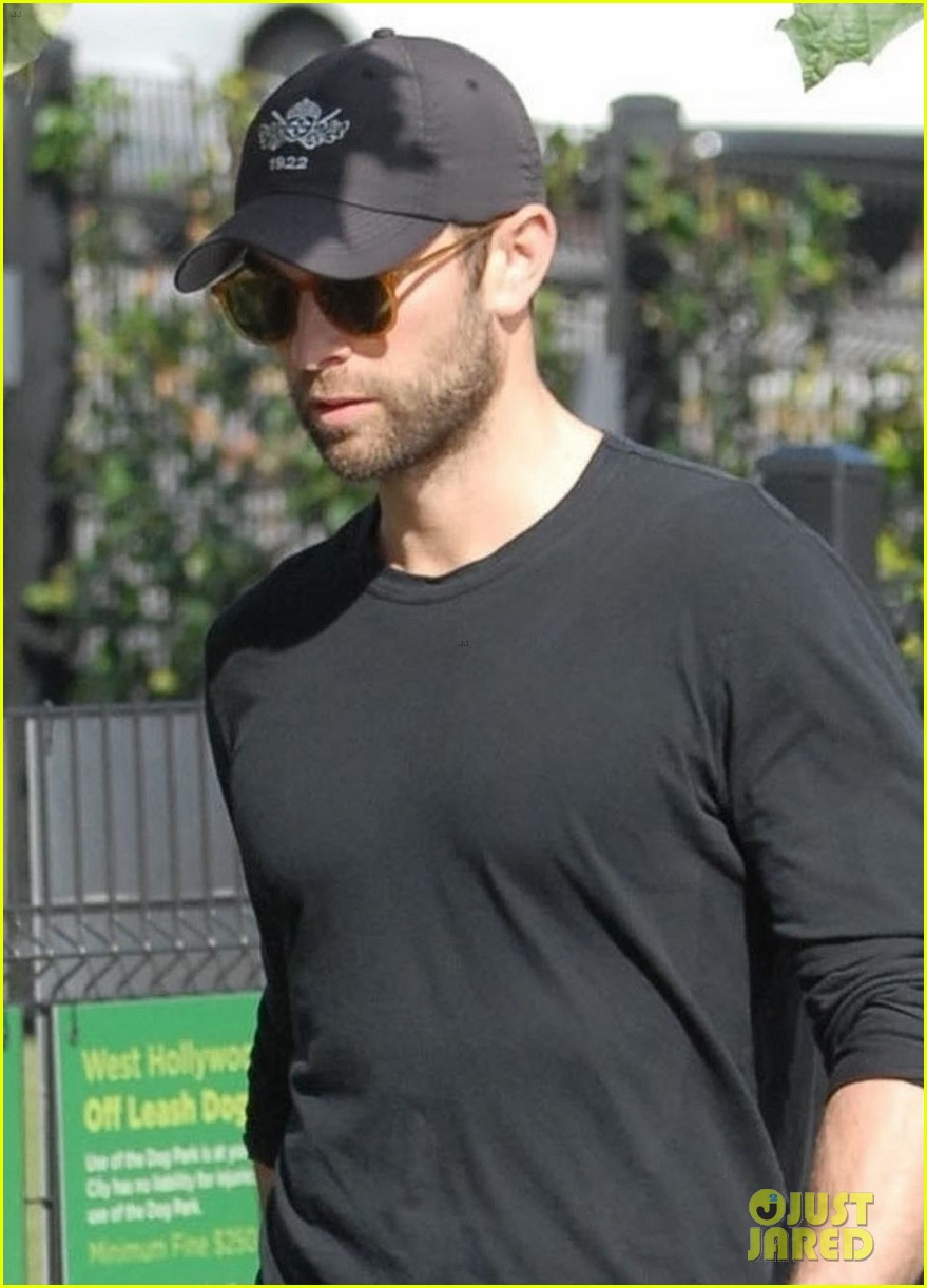 chace crawford takes his dog shiner for a walk 02