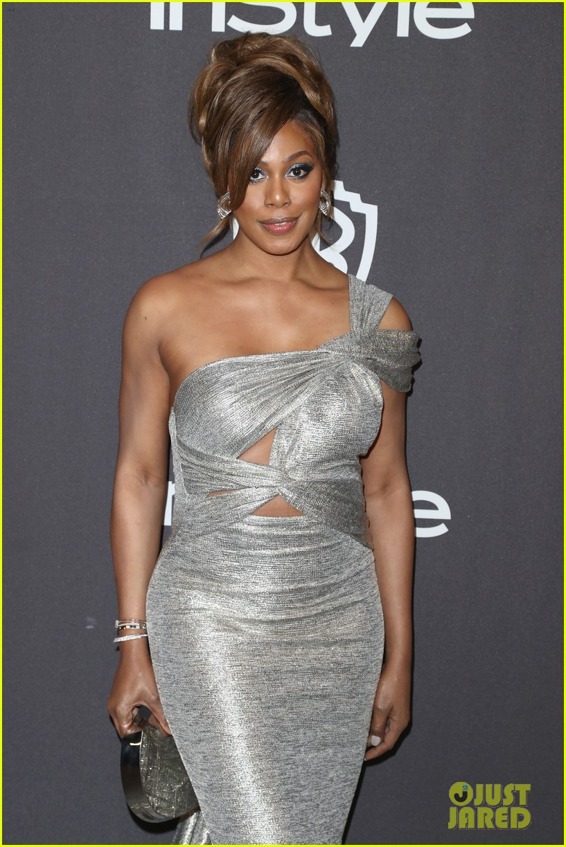 laverne cox sarah silverman hit carpet at instyles golden globes after party 044208247