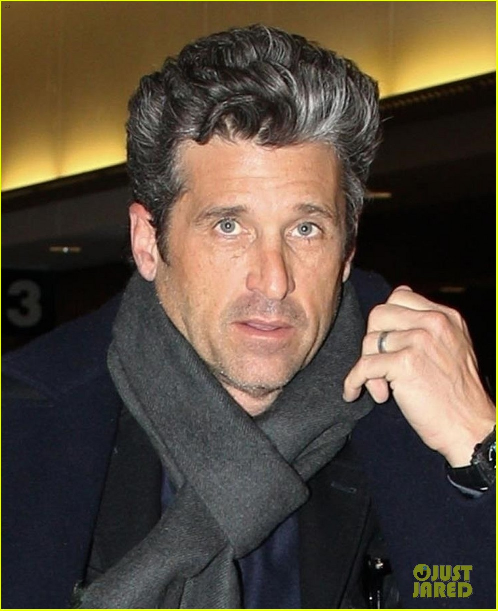 Patrick Dempsey Looks So Handsome While Arriving In Boston Photo
