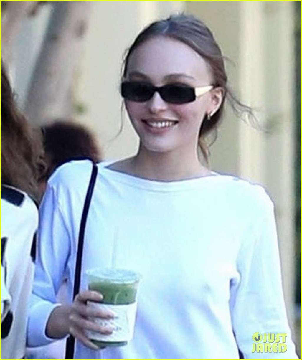 Lily-Rose Depp Keeps It Casual While Picking Up a Green