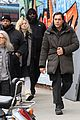 elle fanning javier bardem arrive to molly set 04