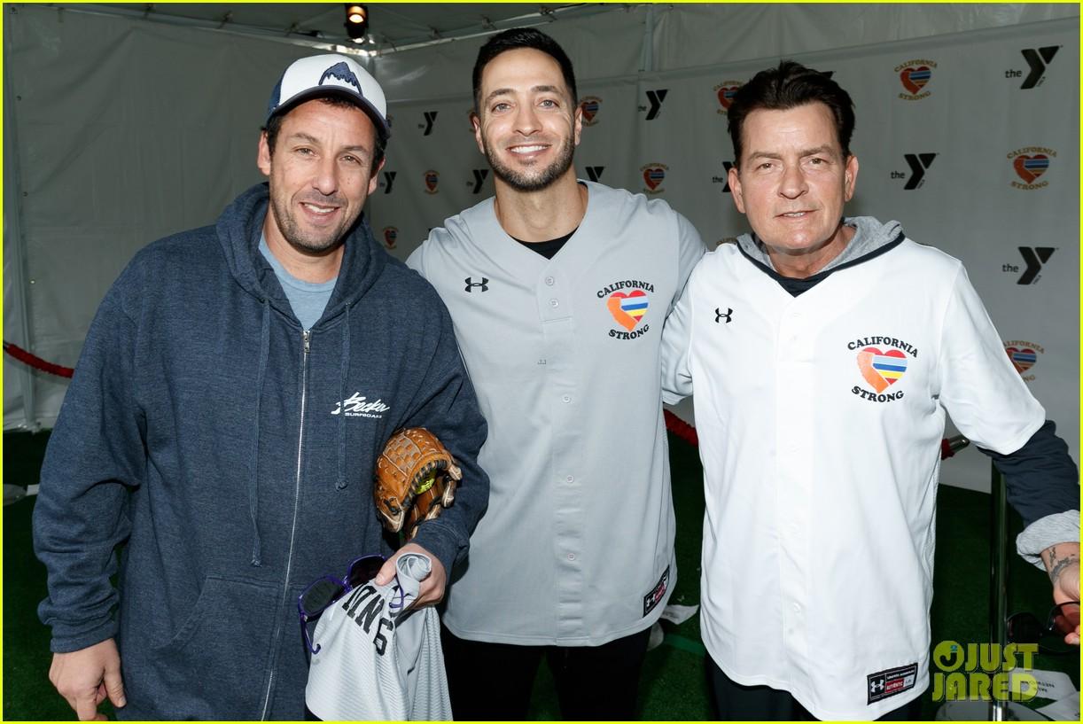 jamie foxx adam sandler zachary levi more team up for celebrity softball benefit game 03