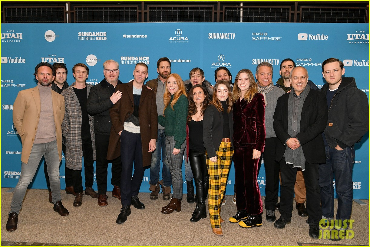 gerard butler joins them that follow cast at sundance film festival premiere 044217808