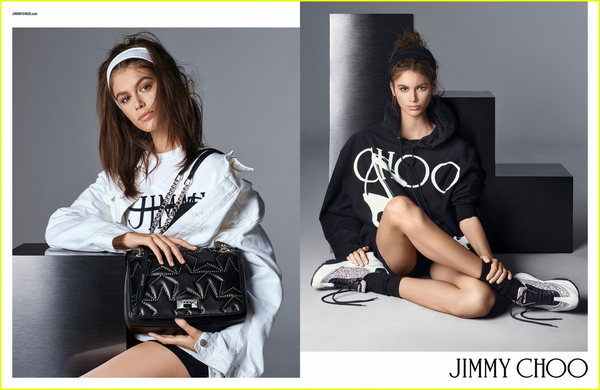 d8d2548f207 Kaia Gerber Keeps It Fierce for Jimmy Choo s New Campaign  Photo ...