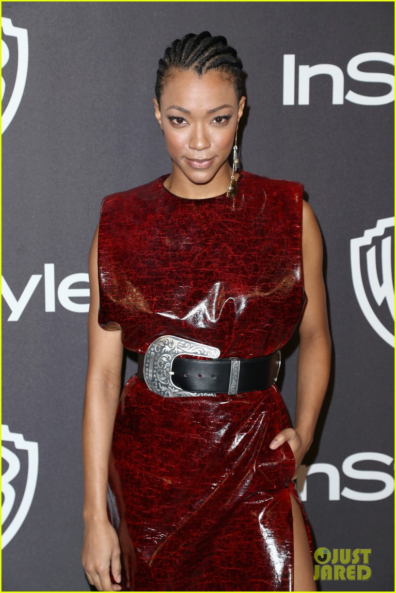 sonequa martin green ahna oreilly hit carpet at golden globes after parties 094208470