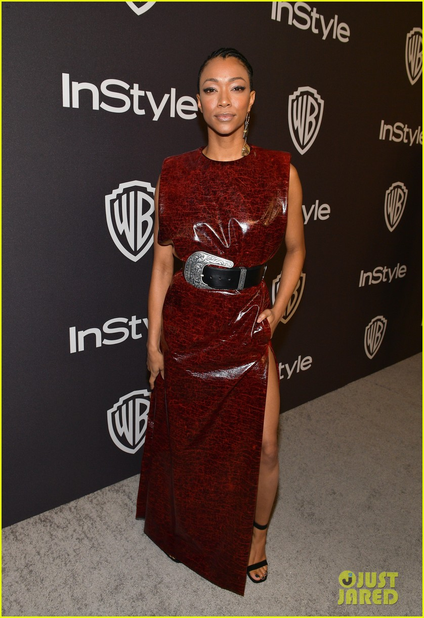 sonequa martin green ahna oreilly hit carpet at golden globes after parties 354208496