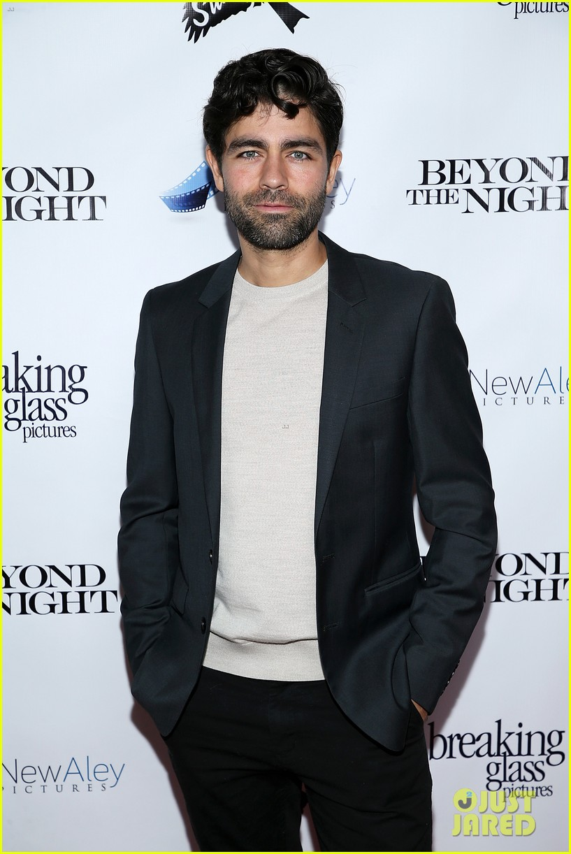 adrian grenier supports his beyond the night cast at premiere 03