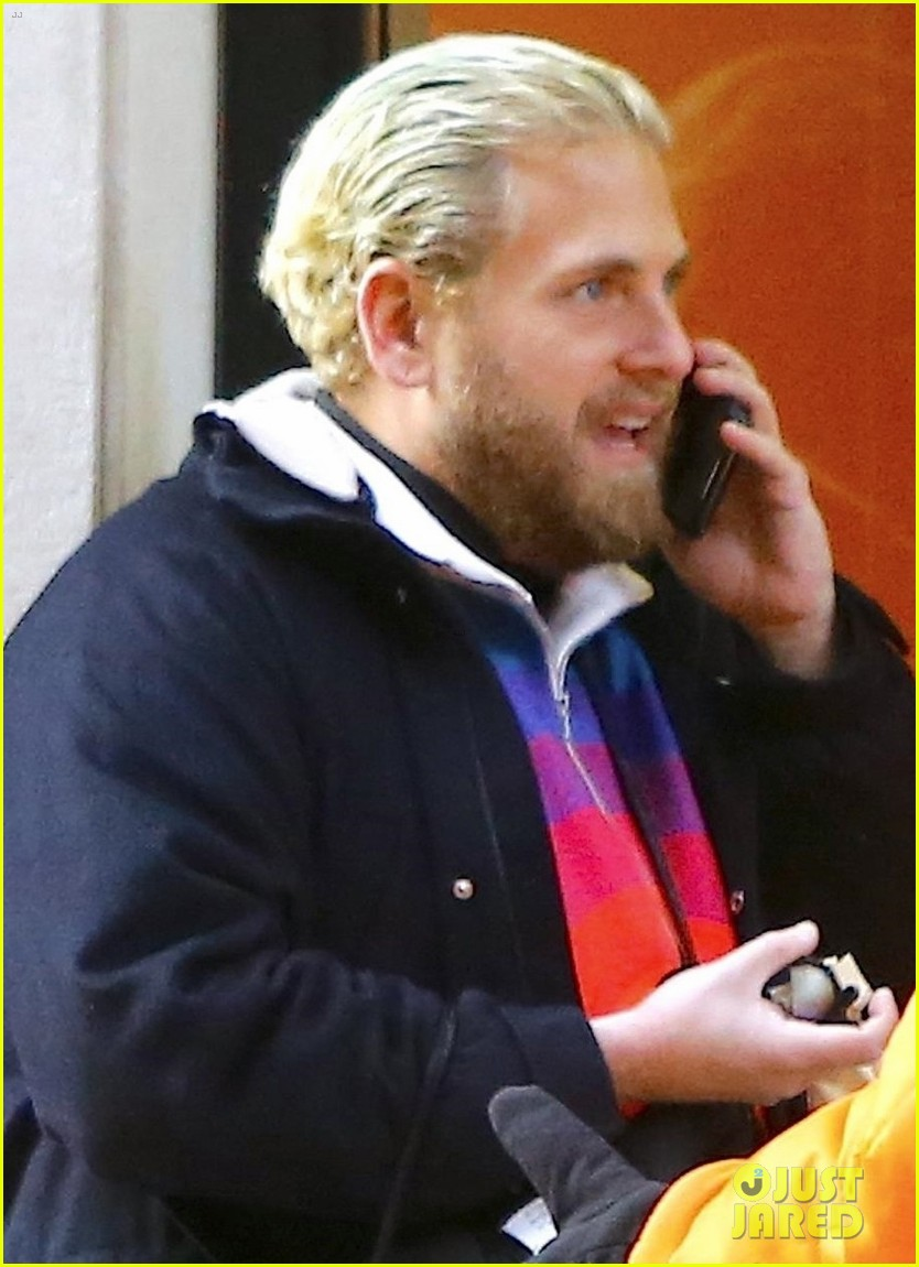jonah hill slicks back blonde hair for day out in nyc 04