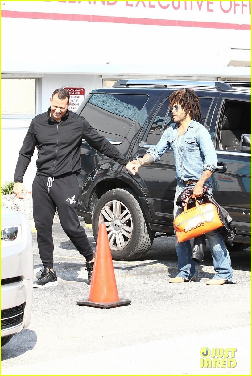 jennifer lopez alex rodriguez work out with lenny kravitz 194221032