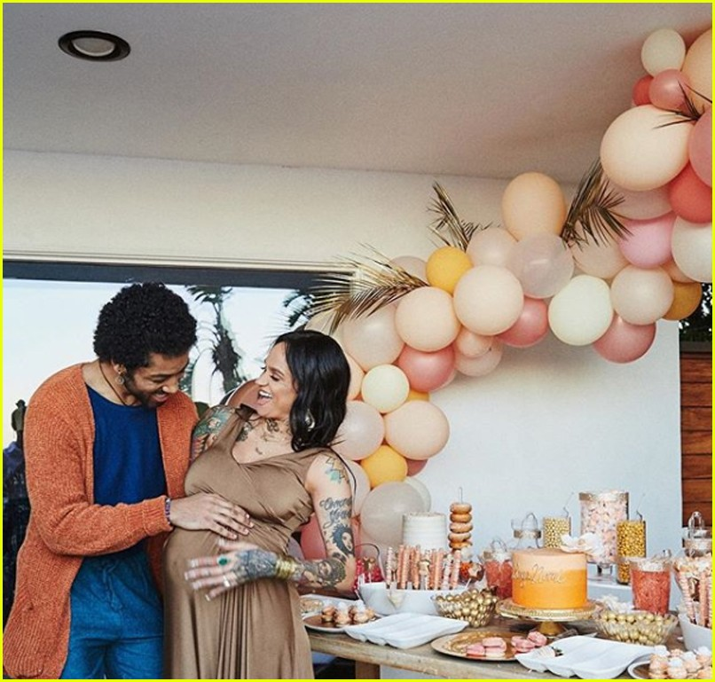 kehlani shares stunning photos from baby shower 02